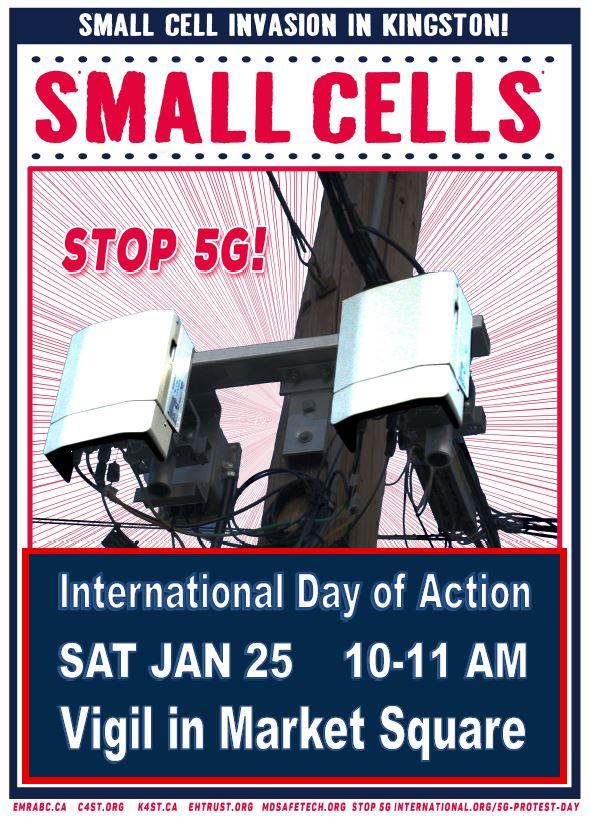 STOP 5G VIGIL IN MARKET SQUARE,KINGSTON