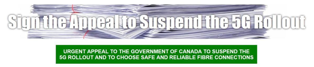 Media Release: Twenty-Four Canadian Groups Say: Suspend 5G Until ProvenSafe